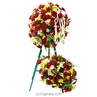 Red Rose Wreath By Flower Republic at Kapruka Online forflowers