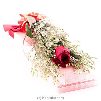 Single Rose Boxed Online at Kapruka | Product# flowers00T182