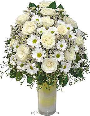 Sympathy Flowers In White Online at Kapruka | Product# flowers00T204