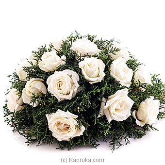White Roses Coffin Wreath at Kapruka Online