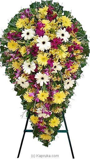 Funeral Wreath - F With Stand Online at Kapruka | Product# flowers00T212