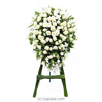 Kapruka Online Shopping Product Funeral Wreath - White Roses
