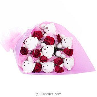 Teddy Bear Hugs For Her Online at Kapruka | Product# flowers00T524