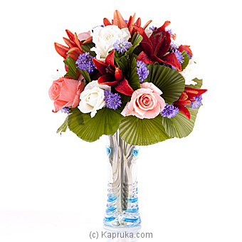 Lavish Roses With Lilies Online at Kapruka | Product# flowers00T656