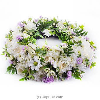 Simply White Sympathy Coffin Wreath at Kapruka Online for flowers