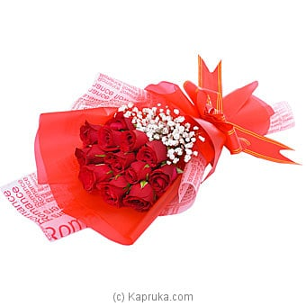 A Dozen Beams Of Romance Online at Kapruka | Product# flowers00T1068