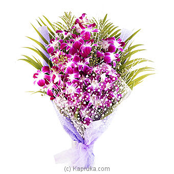 Orchids Wrap Flower Bouquet Online at Kapruka | Product# flowers00J03