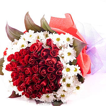 Sealed With A Kiss 40 Red Rose Bouquet Online at Kapruka | Product# flowers00J09