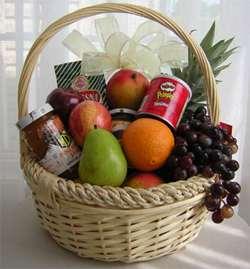 Fruit And Goodies Basket Online at Kapruka | Product# fruitbsk0012