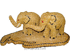 Elephant With Sri Lanka (Decorated With Paddy) at Kapruka Online for merchandise_general