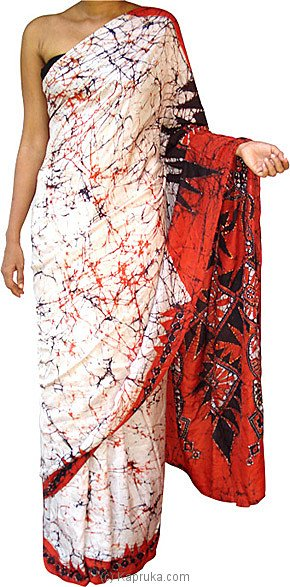 online store f3571 64c44 Batik Cotton Saree 4 batik00161 from Sri Lanka at Kapruka