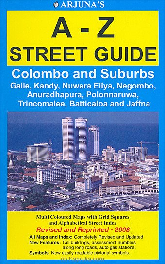 Sri Lanka Road Map - A-Z Street Guide at Kapruka Online for merchandise_general