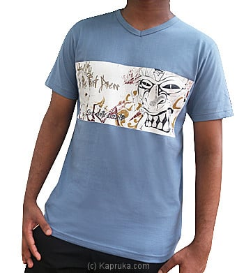 Gara T-Shirt - Blue at Kapruka Online for merchandise_general