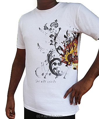 Gara T- Shirt - White at Kapruka Online for merchandise_general