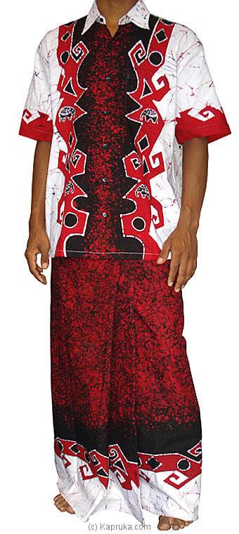 Batik Shirt / Sarong Kit from Sri Lanka at Kapruka