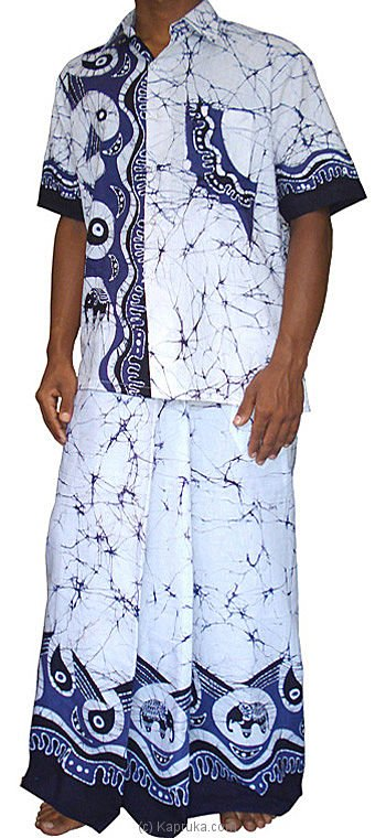 Batik Shirt Sarong Kit Batik00057 From Sri Lanka At Kapruka