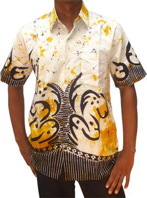 Batik shirt batik00002 from sri lanka at kapruka for Men s batik bay silk blend button down shirt