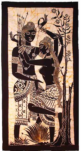 Wall Decoration Sri Lanka : Batik wall hanging from sri lanka at kapruka