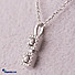 Kapruka Online Shopping Product 18k White Gold Pendent Set (PR 22 P 2)