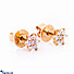Kapruka Online Shopping Product 18k Rose Gold Earrings With VVS DIAMOND (ALE 271 1.3 P PINK)