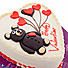 Kapruka Online Shopping Product Divine Valentine Teddy Ribbon Cake