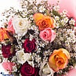 Kapruka Online Shopping Product Dozen Multicolored Roses Bouquet