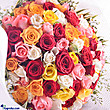 Kapruka Online Shopping Product Multicolored 100 Roses Bouquet