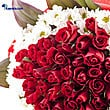 Kapruka Online Shopping Product Sealed With A Kiss 40 Red Rose Bouquet