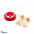 Kapruka Online Shopping Product 22kt gold ear stud with colour stones(e83/1)