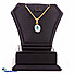 Kapruka Online Shopping Product 22kt gold pendant with blue topaz & cubic zirconia (p580/5)