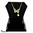 Kapruka Online Shopping Product Butterfly Color Stones Pendant With Necklace