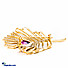 Kapruka Online Shopping Product Glamorous Leaf Saree Brooch