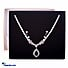 Kapruka Online Shopping Product Cubic Zircon Pearl Necklace & Earing Set