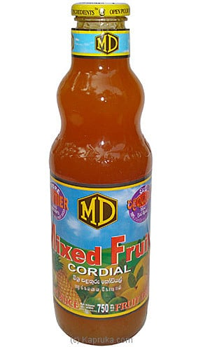 MD Mixed Fruit Cordial Bottle - 750ml at Kapruka Online for specialGifts