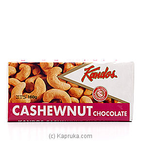 Kandos Cashewnut Chocolate - 160g By KANDOS at Kapruka Online forspecialGifts