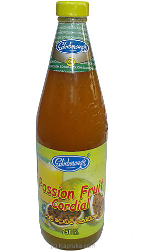 Passion Fruit Cordial Bottle 750ml - Edinborough at Kapruka Online for specialGifts