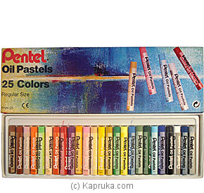 Pentel Oil Pastels - 25 Colours (Regular Size) at Kapruka Online for specialGifts