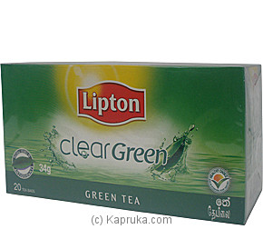 Lipton - Clear Green Tea ( 20 Bags )  Pkt - 34g at Kapruka Online for specialGifts