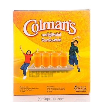 Colman`s Orange Flavoured Drink Mix Box - 500g at Kapruka Online for specialGifts