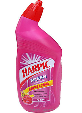Harpic Floral Fresh Toilet Cleaner (Pink) Bottle 500ml at Kapruka Online for specialGifts