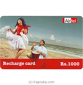 Rs 1000 Airtel Prepaid Phone Card at Kapruka Online for specialGifts
