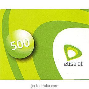 Rs 500 Etisalat Prepaid Phone Card at Kapruka Online for specialGifts