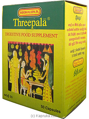 Siddhalepa - Threepala Pkt - ( 50 Capsules ) 12.5g at Kapruka Online for specialGifts
