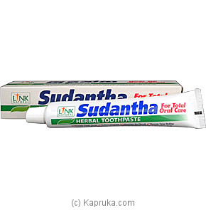 Link Natural - Sudantha Herbal Toothpaste Tube - 80g at Kapruka Online for specialGifts