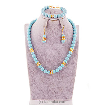 Pearl Necklace - Light Blue- C01656,CE1656,CG1656 at Kapruka Online for specialGifts