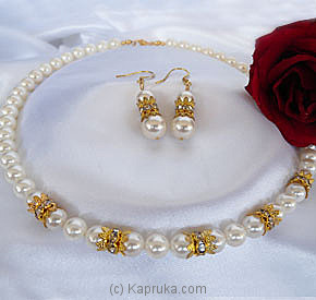 Shell Pearl Necklace Set - CO1575 /CE1575 at Kapruka Online for specialGifts
