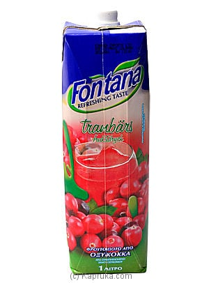 Fontana Canberry Juice - 1 Ltr at Kapruka Online for specialGifts
