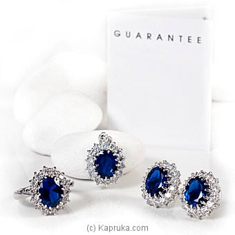 Cubic Zirconium Jewelry Set - P0505/P0505E/R0617 at Kapruka Online for specialGifts