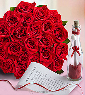 24 Roses With Message In Bottle at Kapruka Online for specialGifts
