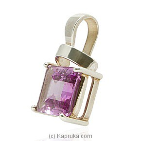 A Silver Pendant With An Amethyst at Kapruka Online for specialGifts